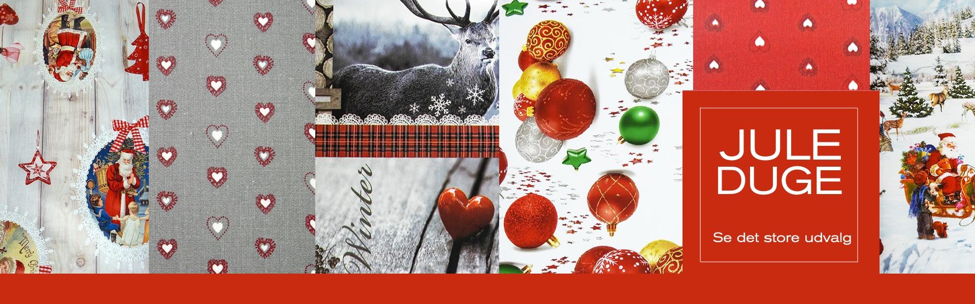 juleduge fra Dugen.dk - stort udvalg af voksduge og tekstil duge